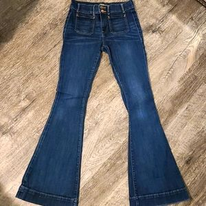 NWOT Express bell flare jeans